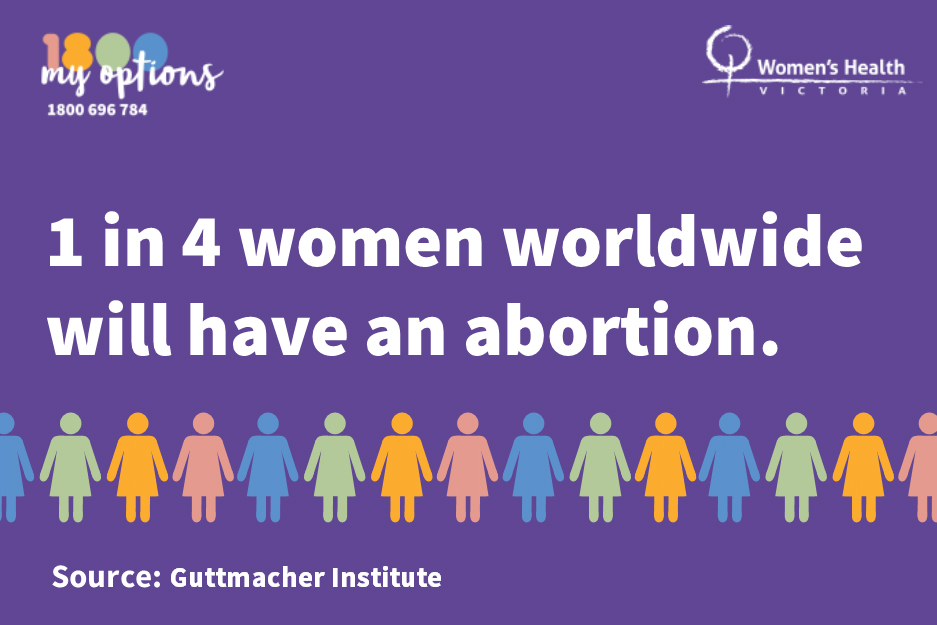 1 in 4 women will have an abortion