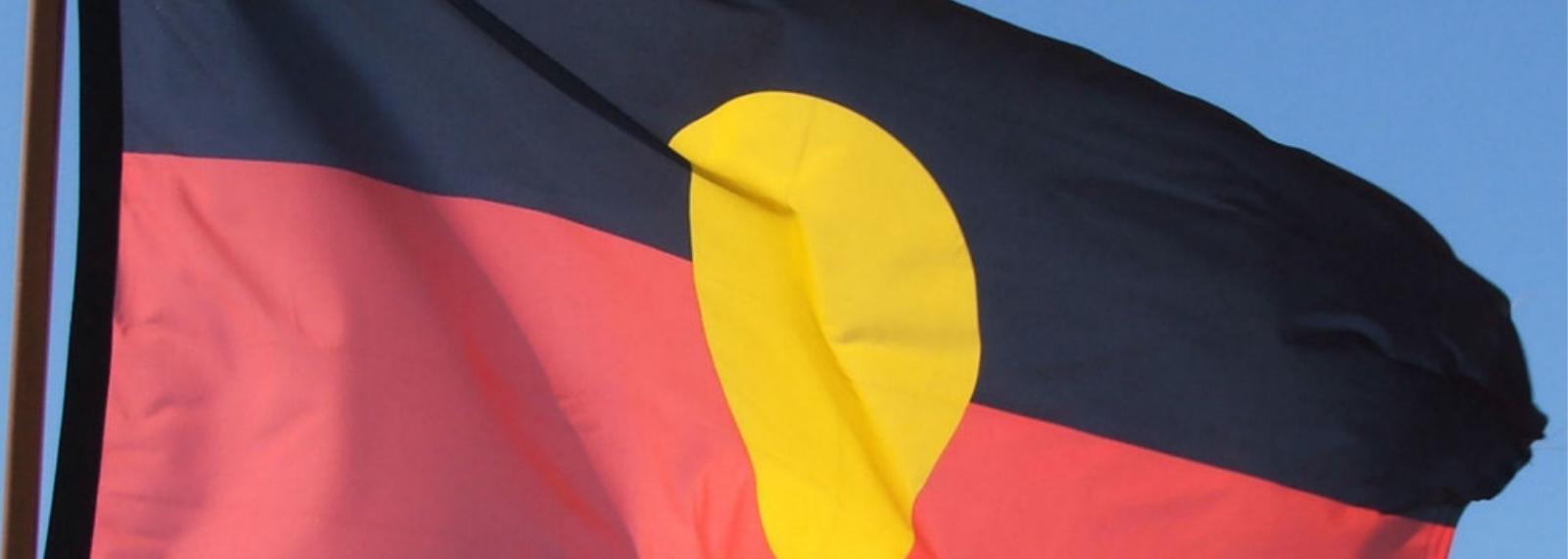 Photo of an Aboriginal flag