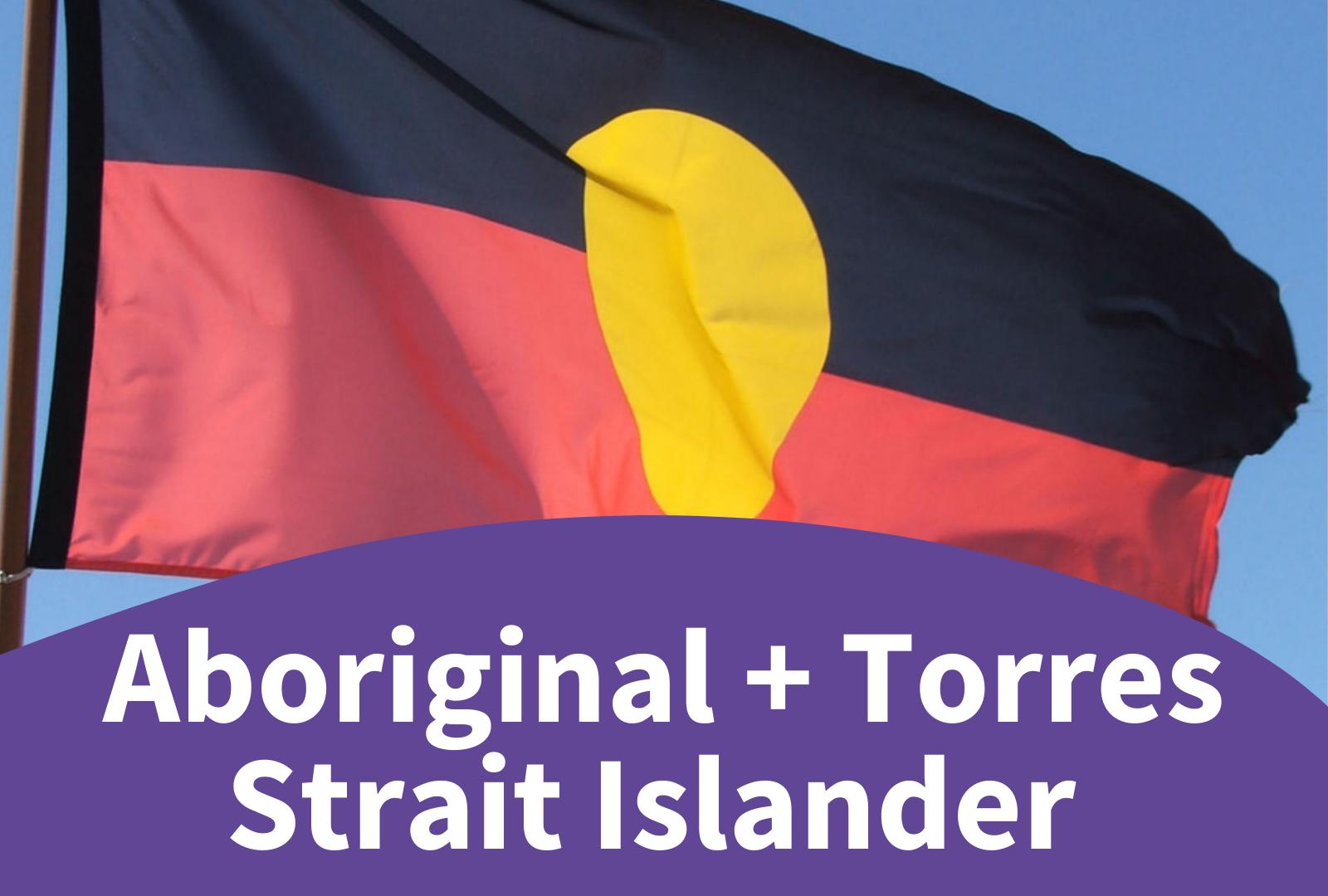 Photo of the Aboriginal flag