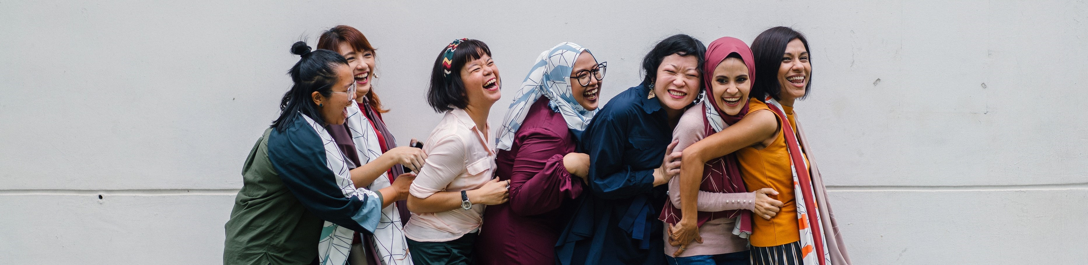 Photo of a group of multiethnic women